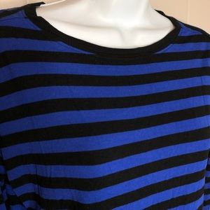Gap Stripped Black + Blue Shirt